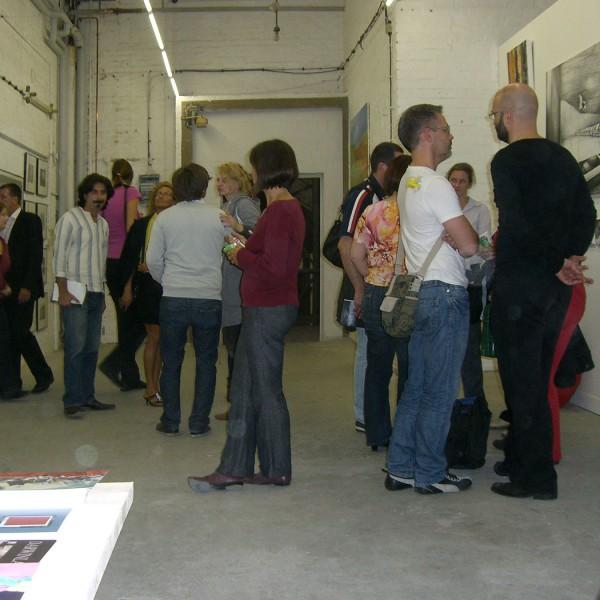 Art fair Berliner Kunstsalon 2009, booth of Galerie Frenhofer Berlin