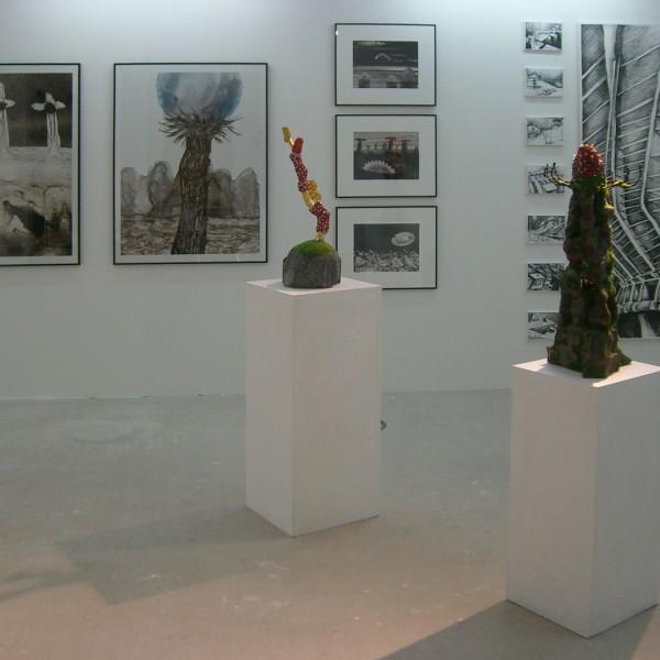 Art fair Berliner Liste 2009, booth of Galerie Frenhofer Berlin