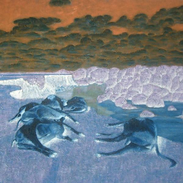 Thomas Michel, Der Schlaf besänftigt den Himmel, Öl auf Leinwand, 2006, 110x160 cm