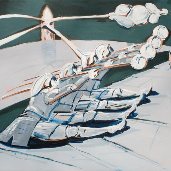 Thomas Michel, Die Ruderer, Öl auf Leinwand, 1992, 130x145 cm
