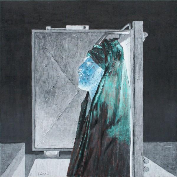 Thomas Michel, Erweckung, Öl auf Leinwand, 2006, 105x105 cm