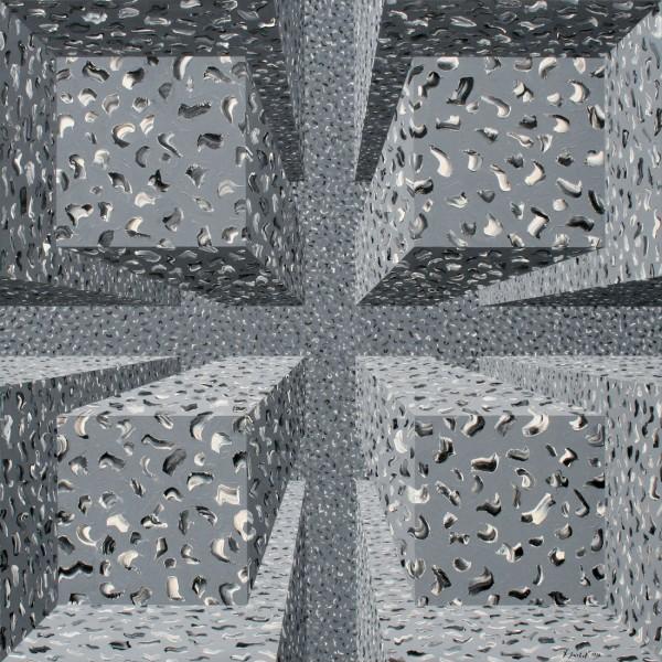 Thomas Michel, Kreuzweg, Öl auf Leinwand, 1998, 135x135 cm