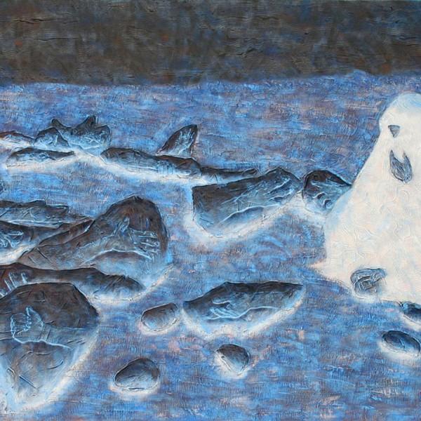 Thomas Michel, Das Phantom der Wüste, Öl auf Leinwand, 2004, 115x175 cm