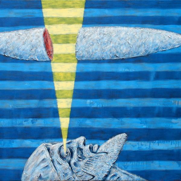 Thomas Michel, Wolke, von einem Auge zerschnitten, 2004, 110x140 cm