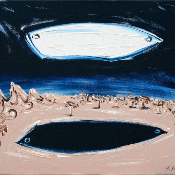 Thomas Michel, Aequilibrium, oil on canvas, 2004, 42x55 cm