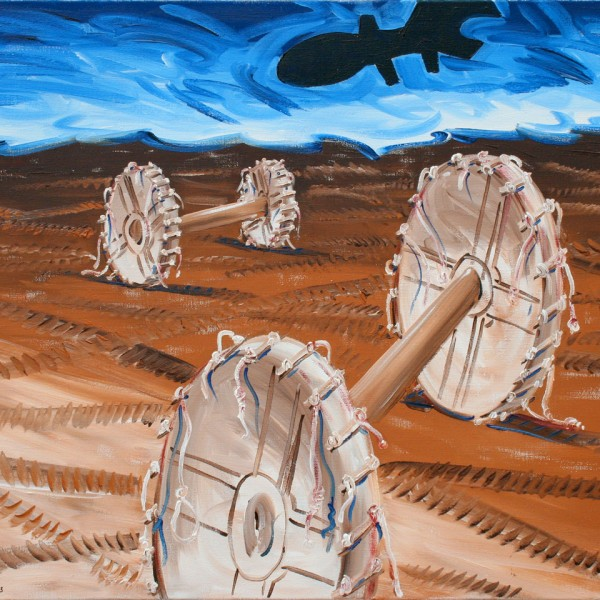 Thomas Michel, Cart-Ruts, oil on canvas, 2003, 80x100 cm