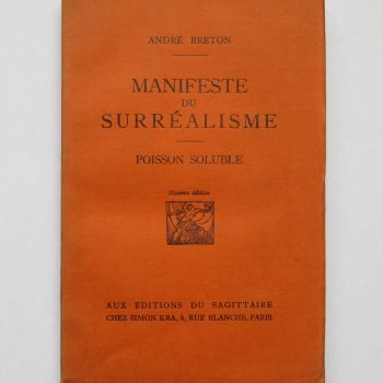 André Breton, Manifeste du surréalisme. Poisson soluble, Paris 1924, Frontispiece by Max Ernst