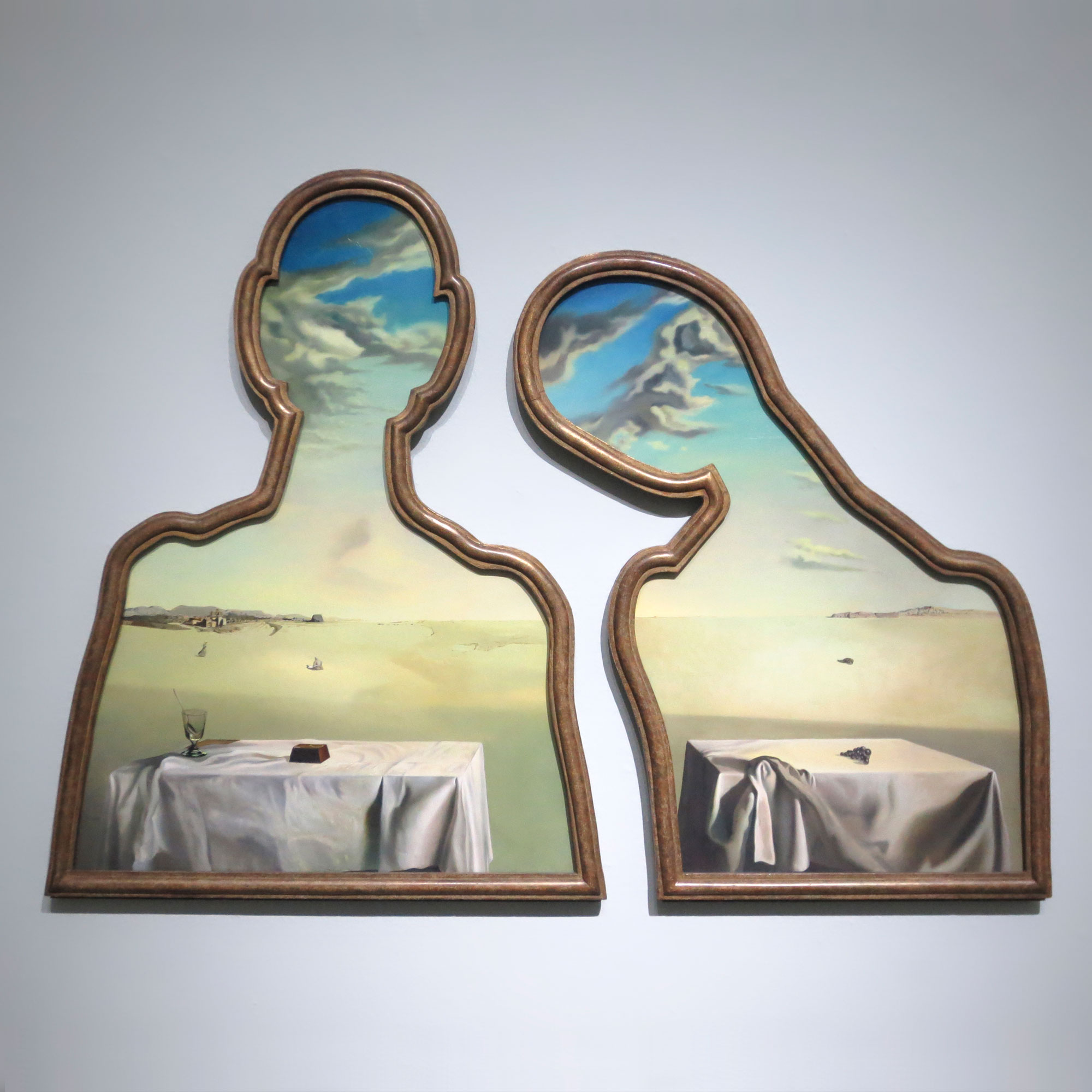 Salvador Dalí, A Couple With Their Heads Full of Clouds, 1936, Museum Boijmans Van Beuningen, Rotterdam (formerly collection E. James)