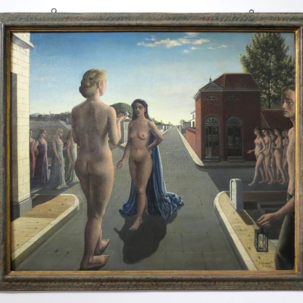 Paul Delvaux, The Encounter, 1942, collection Ulla and Heiner Pietzsch