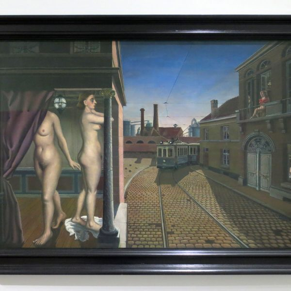Paul Delvaux, Straßenbahnstraße, 1938/39, Scottish National Gallery of Modern Art, Edinburgh (ehemals Sammlung G. Keiller)