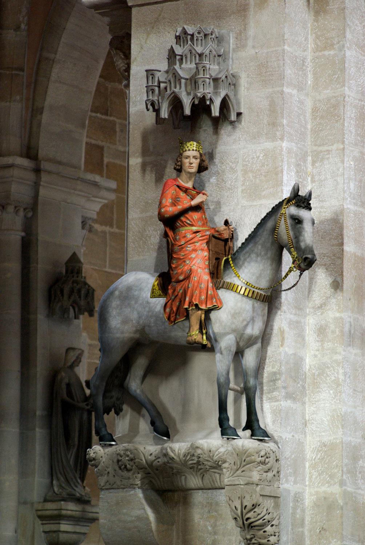 Bamberg, Bamberger Reiter, Farbrekonstruktion, Dom
