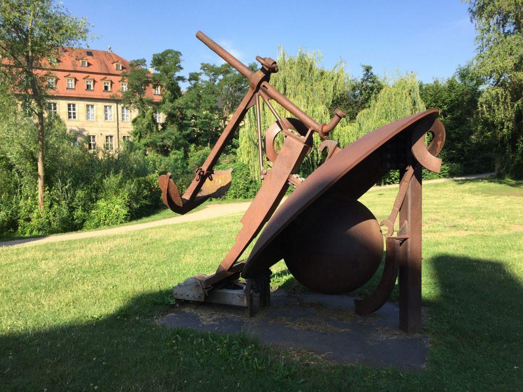 Bamberg, Bernhard Luginbühl, Ankerfigur 2002, Schiffbauplatz