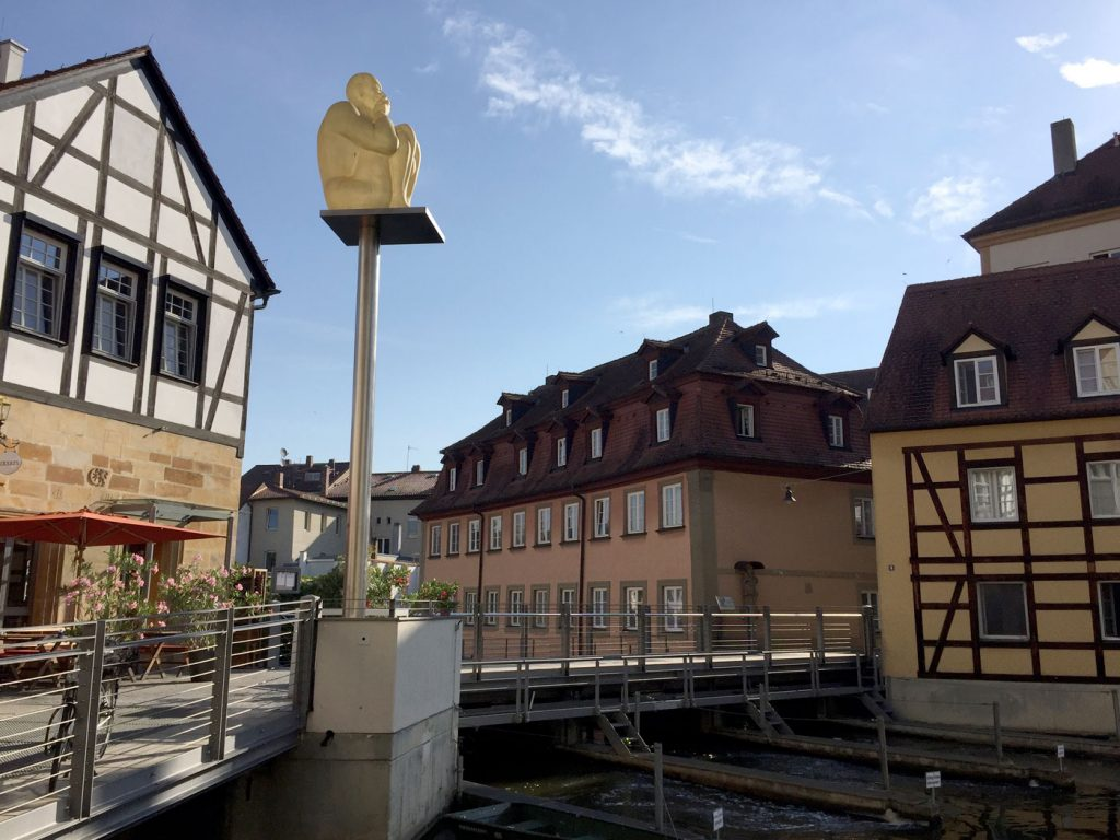 Bamberg, Jaume Plensa, Air-Earth, Obere Mühlbrücke