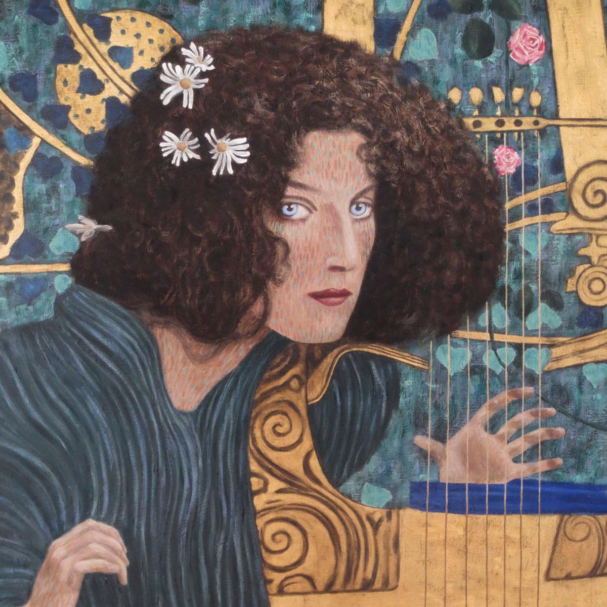 gustav klimt allegory of music thomas michel contemporary art