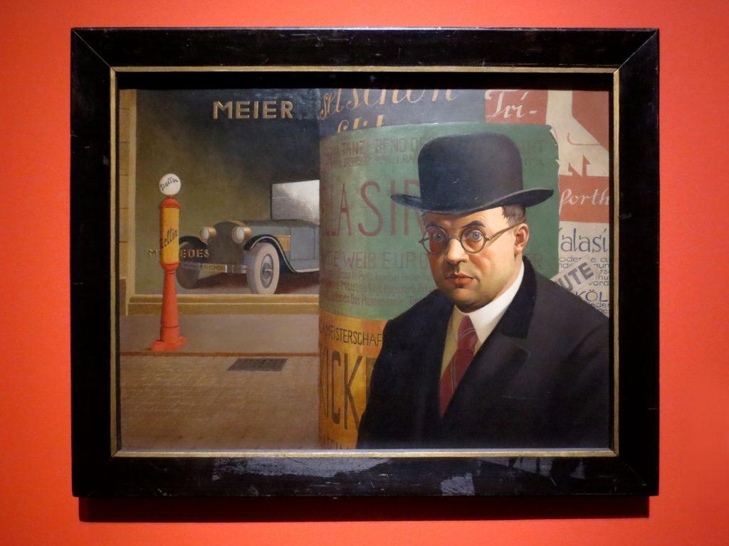 Glanz und Elend in der Weimarer Republik, Georg Scholz, Selbstbildnis vor der Litfaßsäule, 1926