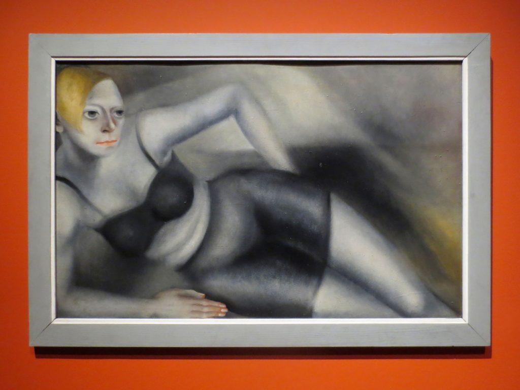 Glanz und Elend in der Weimarer Republik, Kate Diehn-Bitt, Selbstbildnis in schwarzer Wäsche, 1932