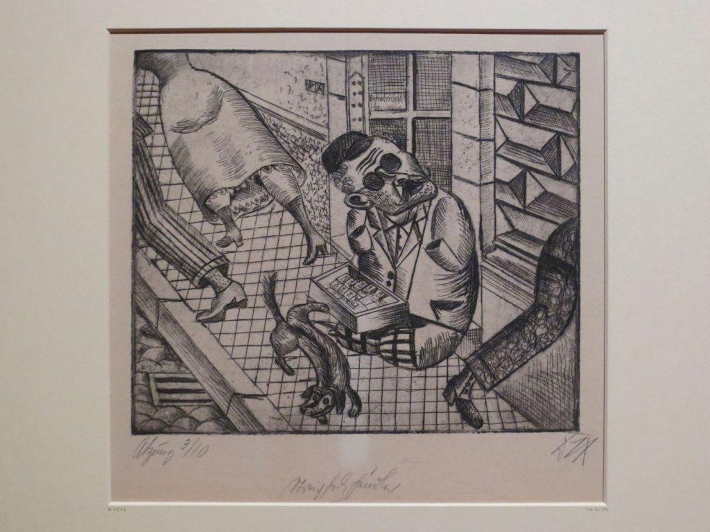 Glanz und Elend in der Weimarer Republik, Otto Dix, Streichholzhändler