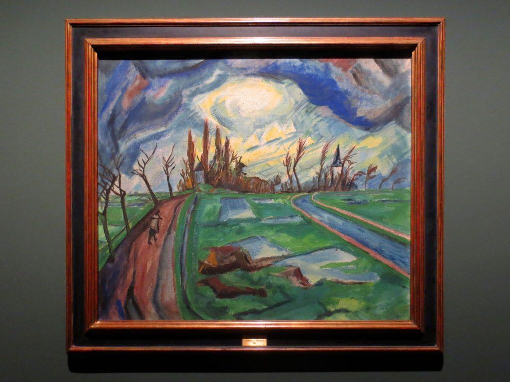 Back to Paradise - Meisterwerke des Expressionismus, Erich Heckel, Frühling in Flandern, 1916