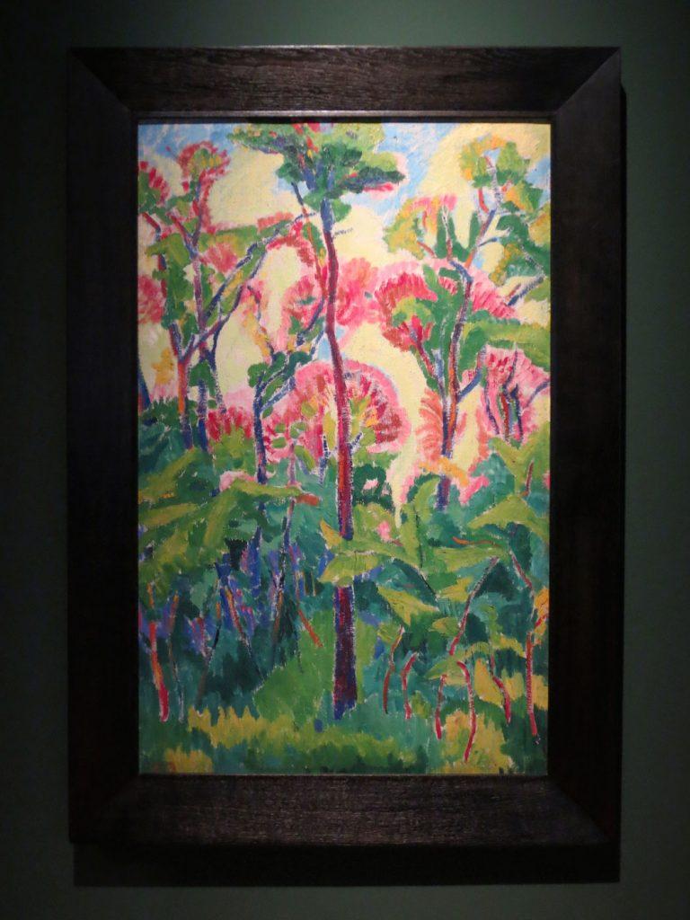Back to Paradise - Meisterwerke des Expressionismus, Walther Bötticher, Hohe Stämme im Unterholz, 1913