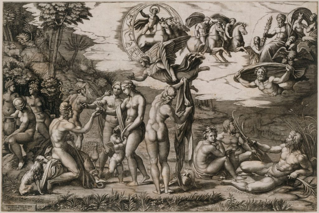 Marcantonio Raimondi, The Judgement of Paris
