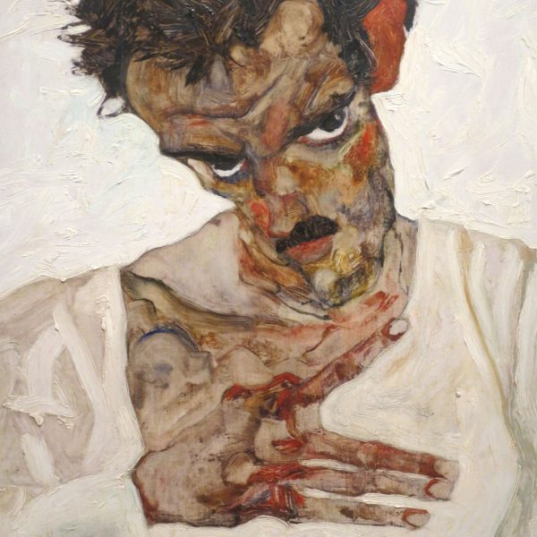Egon Schiele, Selbstbildnis mit gesenktem Kopf