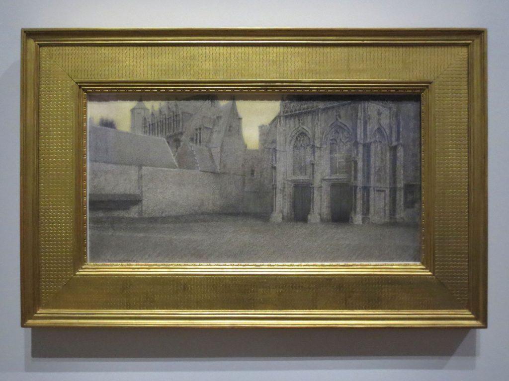 Fernand Khnopff, À Bruges. Un portail, 1904
