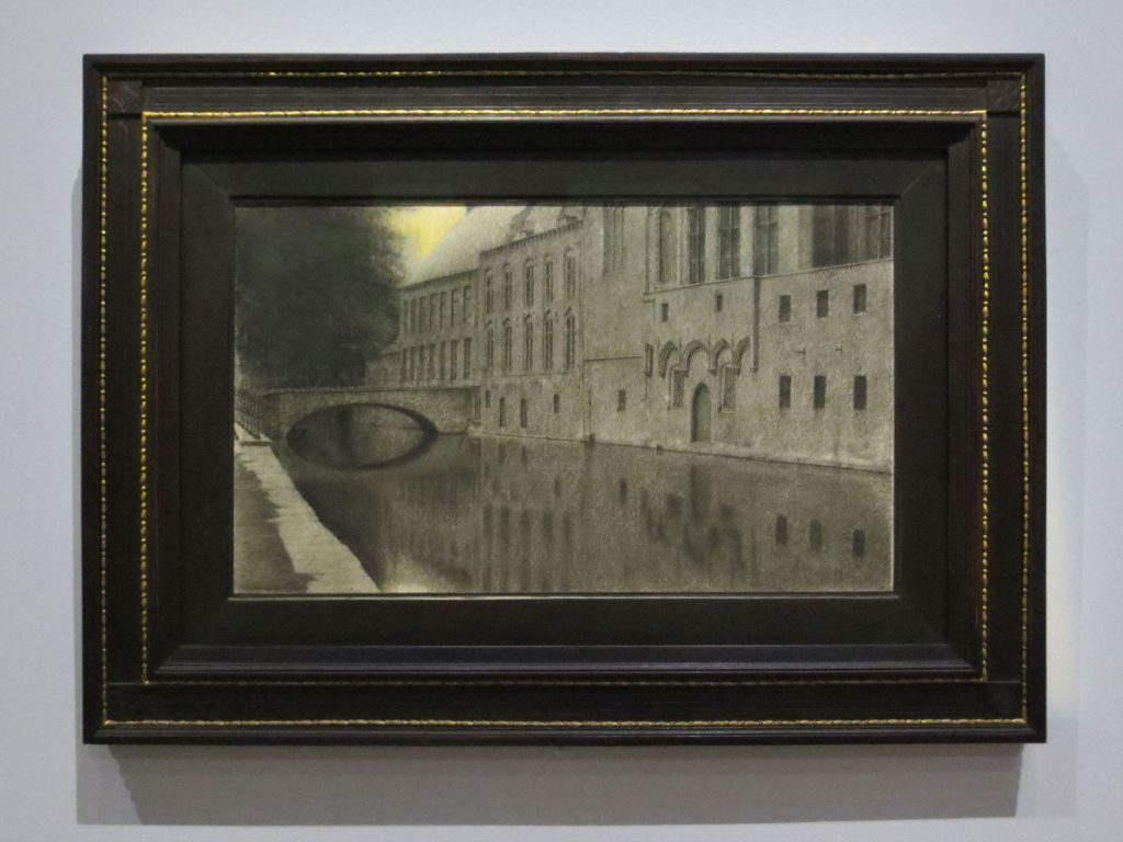 Fernand Khnopff, Des Souvenirs de la Flandre. Un canal, 1904