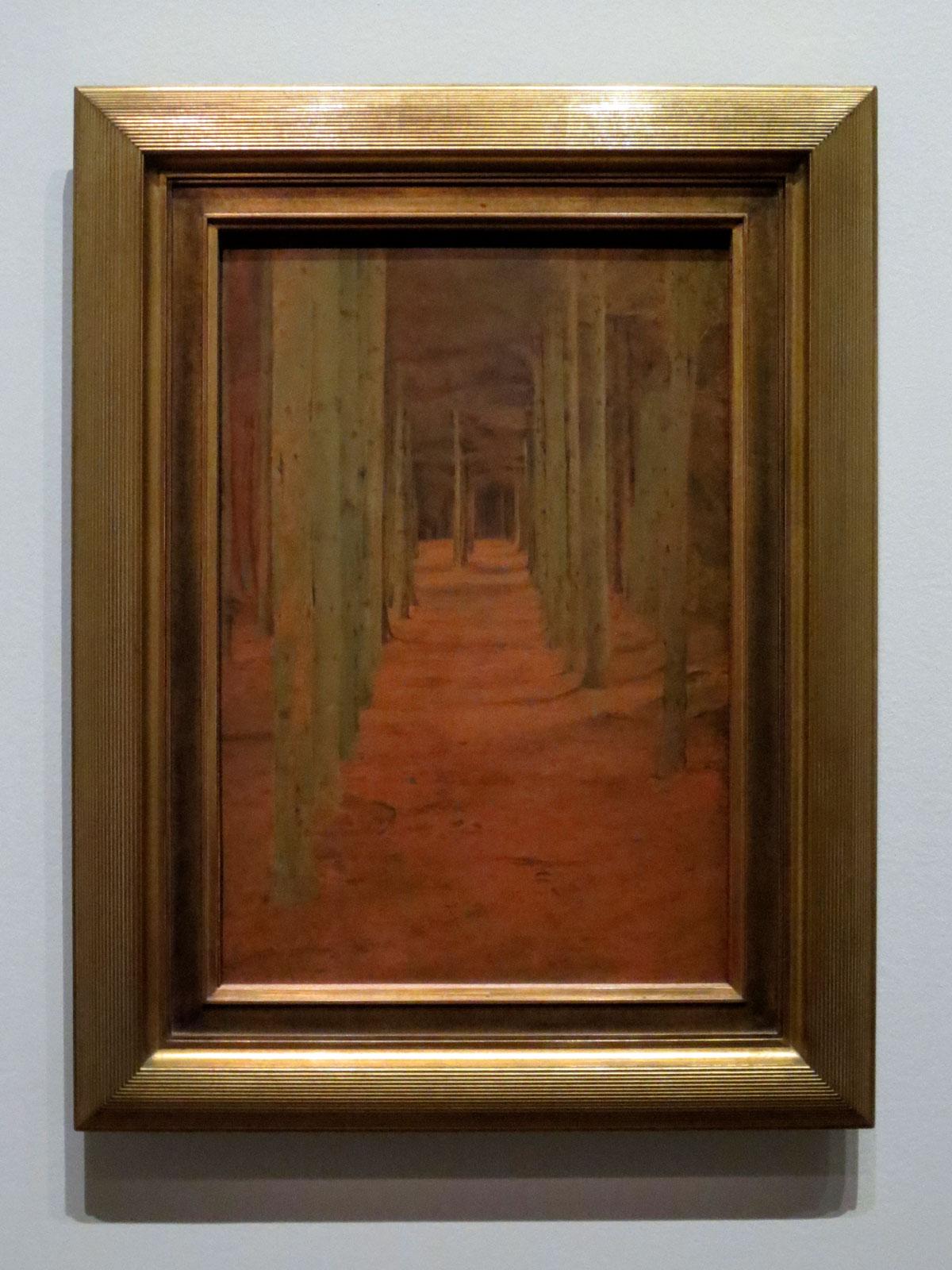 Fernand Khnopff, À Fosset. Sous les sapins, 1894