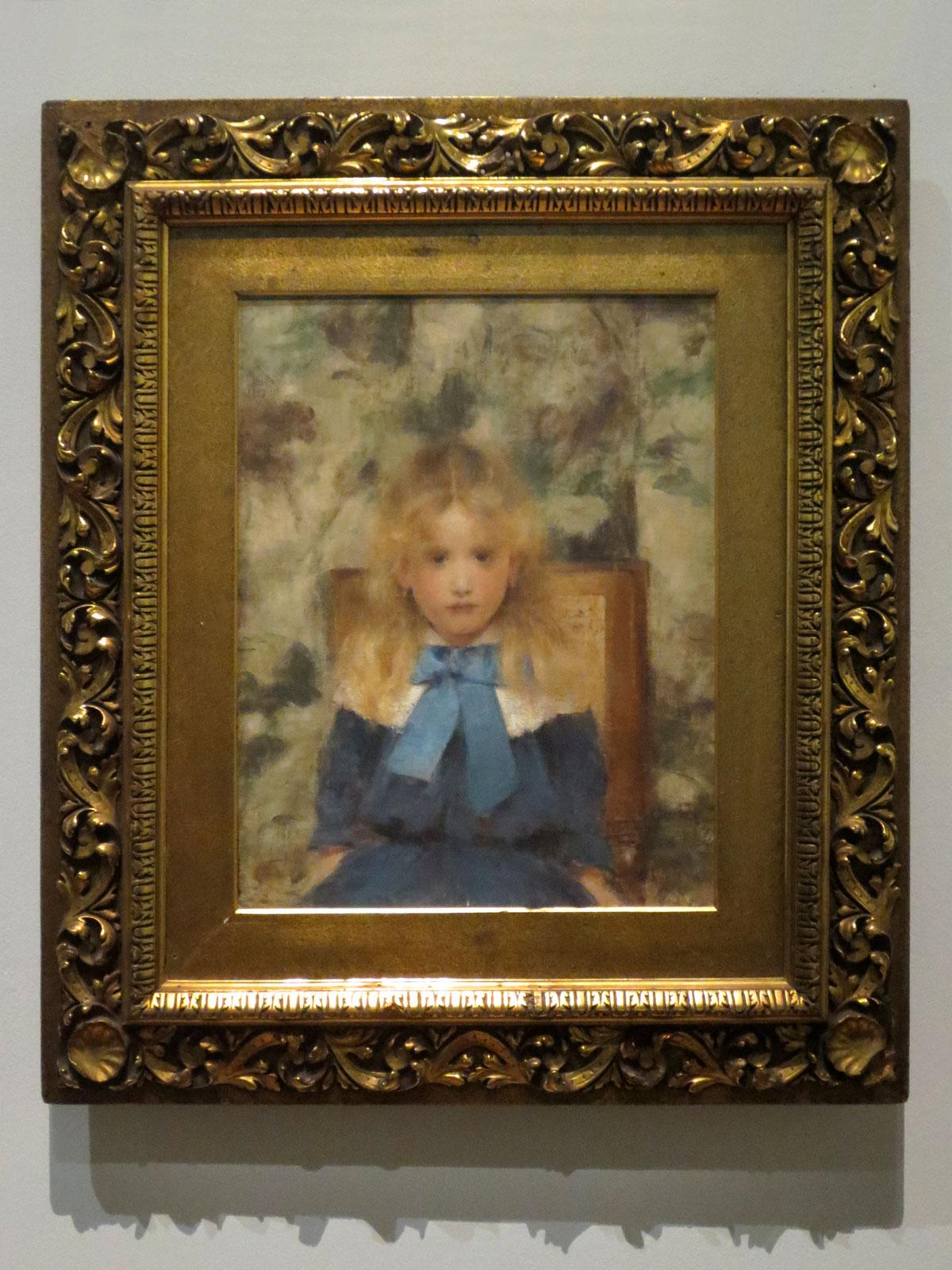 Fernand Khnopff, Mademoiselle Van der Hecht, 1883