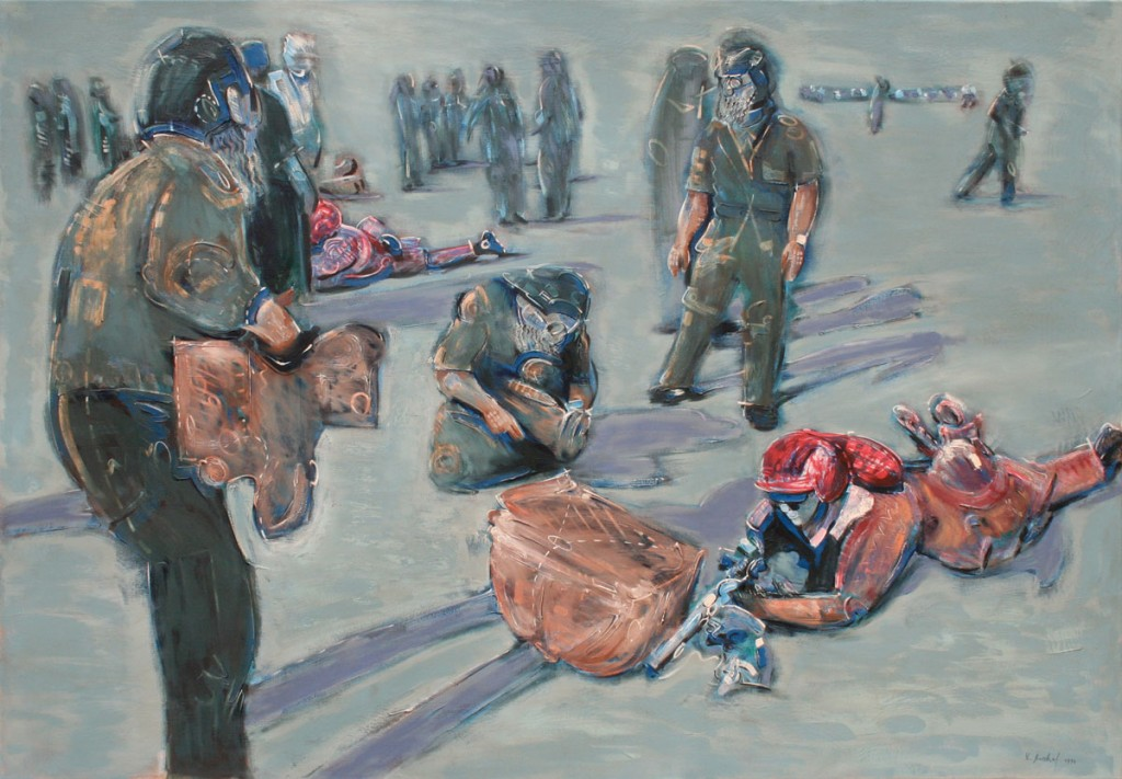 Thomas Michel, The new Nomads, painting