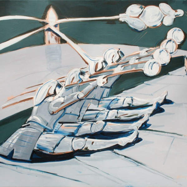 Thomas Michel, The Rowers, oil on canvas, 1992, 130x145 cm